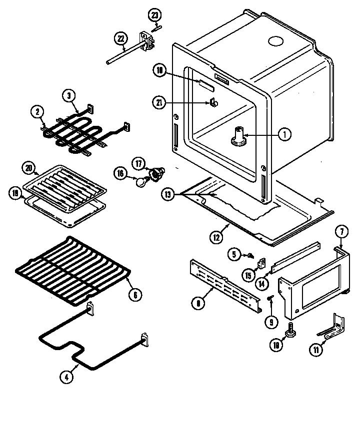 Magic-Chef model 3521WRW ranges, electric genuine parts