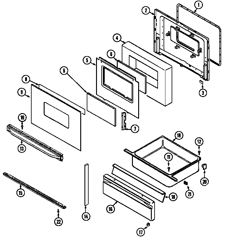 Magic-Chef model 3468VVV range (gas) genuine parts