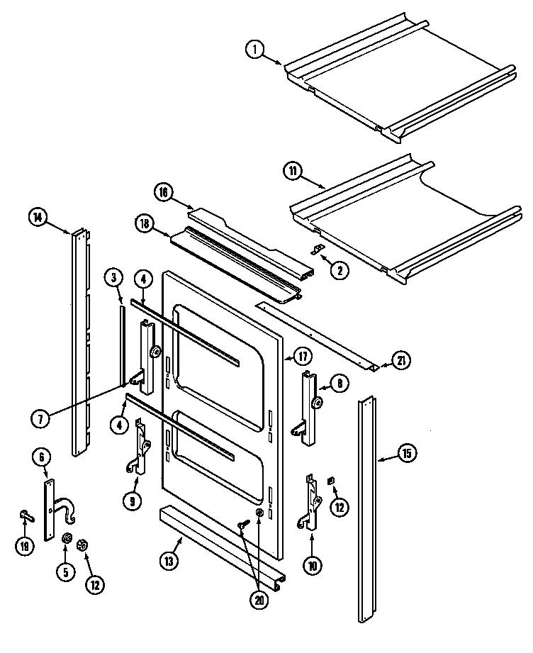 Magic-Chef model 9112VPV wall oven, gas genuine parts