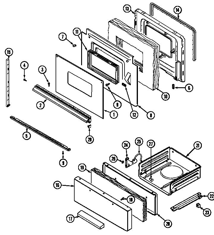 Magic-Chef model 3227XRWLT4 range (gas) genuine parts