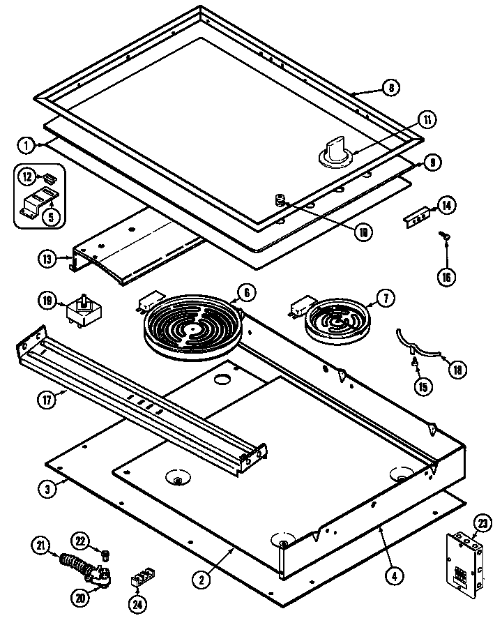 Magic-Chef model 8670RV ranges, electric genuine parts