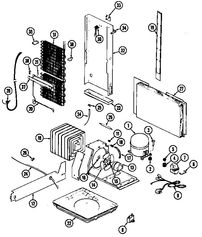 Magic-Chef model RC202TV refrigerators-misc genuine parts