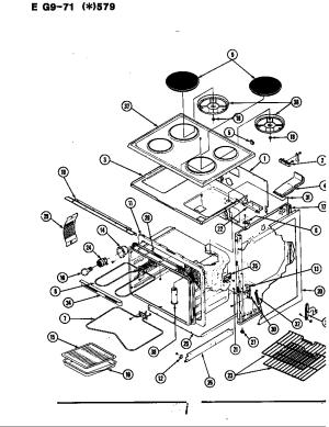 HARDWICK (MAYTAG) HARDWICK COOKING Parts | Model eg971w579 | Sears PartsDirect