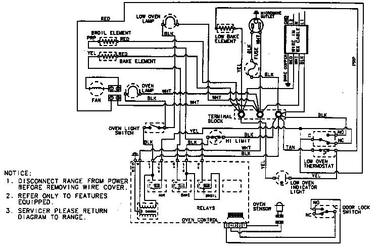 Magic-Chef model 9855VUV ranges, electric genuine parts