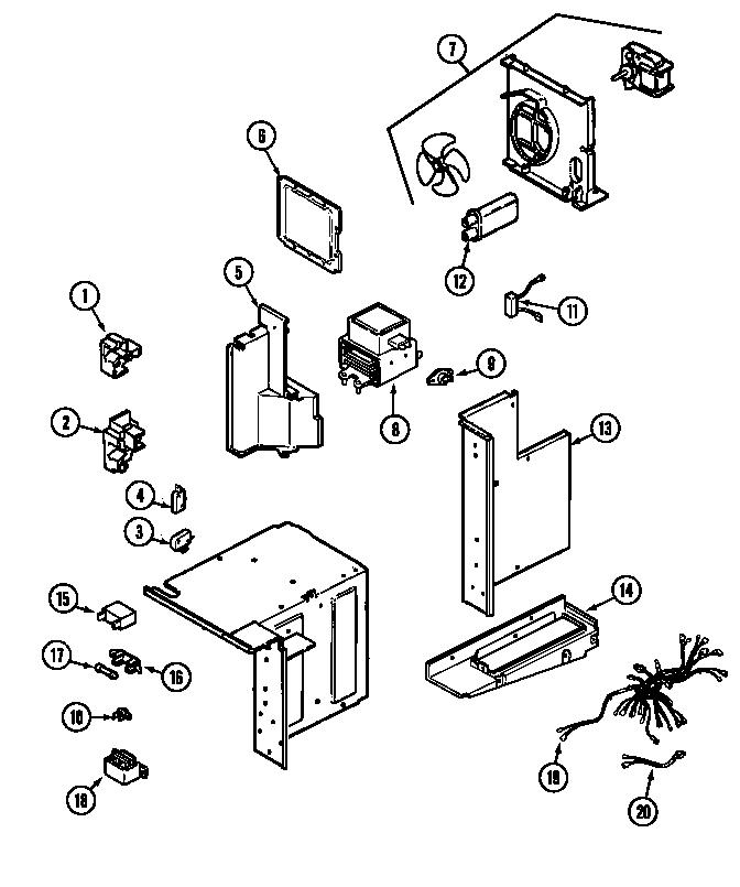Maytag model CME9010CAE countertop microwave genuine parts