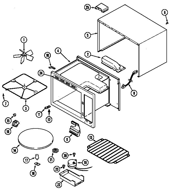 Jenn-Air model M169B countertop microwave genuine parts