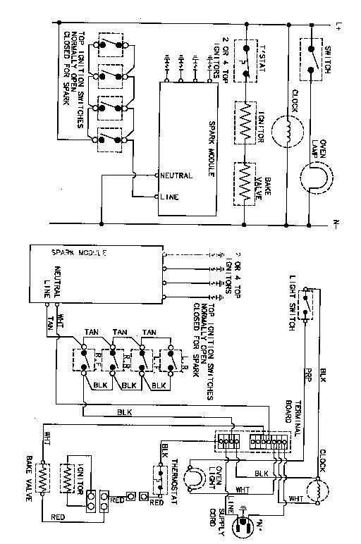 Magic-Chef model 31213XAW range (gas) genuine parts