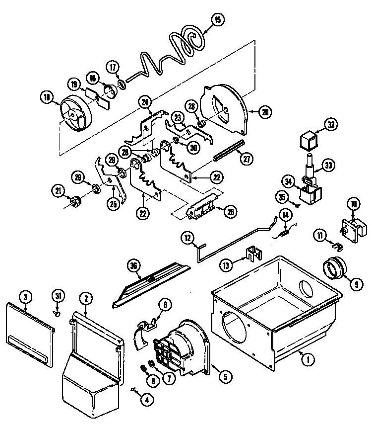 Maytag model RSW2200EAE refrigerators-misc genuine parts