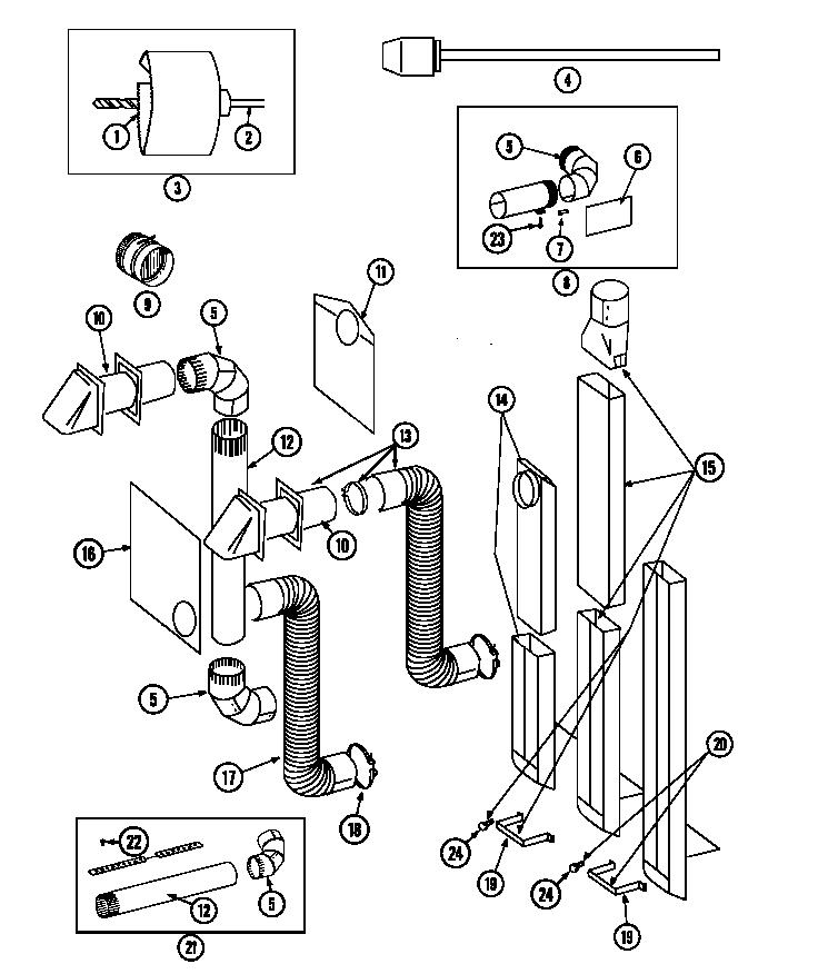 Maytag model LDG9306AAE laundry (26) genuine parts