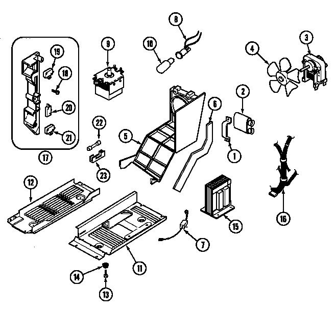 Magic-Chef model DM130LC countertop microwave genuine parts