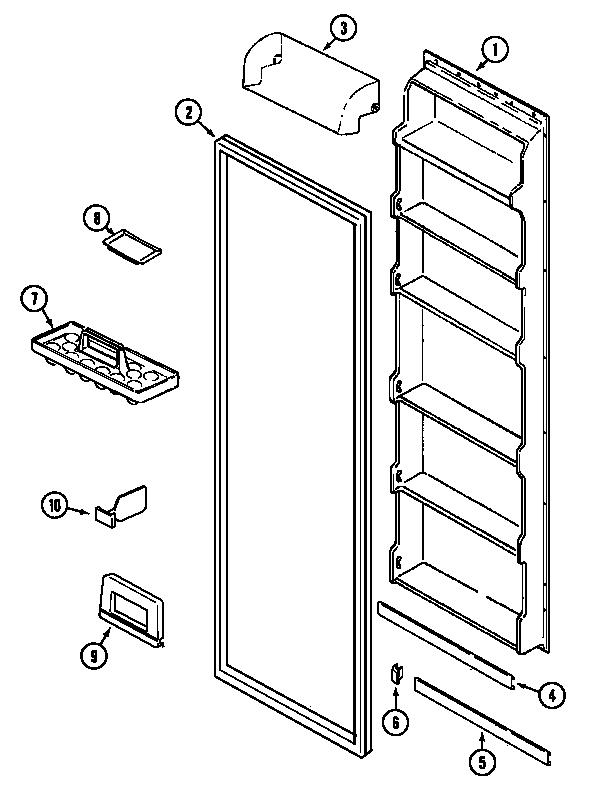 Magic-Chef model CSD2123ARW side-by-side refrigerator