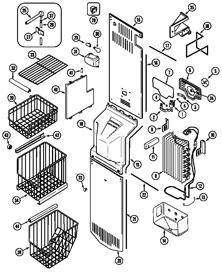 Jenn-Air model JSD2789AES side-by-side refrigerator