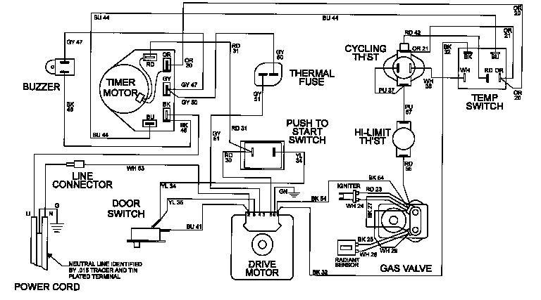 Maytag model MDG5000BWW residential dryer genuine parts