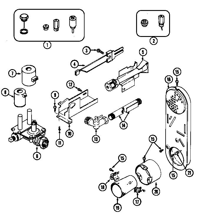 Maytag model LDE9304ACE residential dryer genuine parts