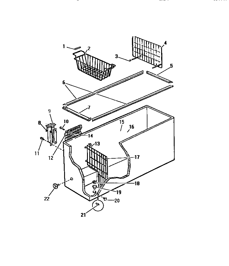 Frigidaire model CF26KW2 chest freezer genuine parts