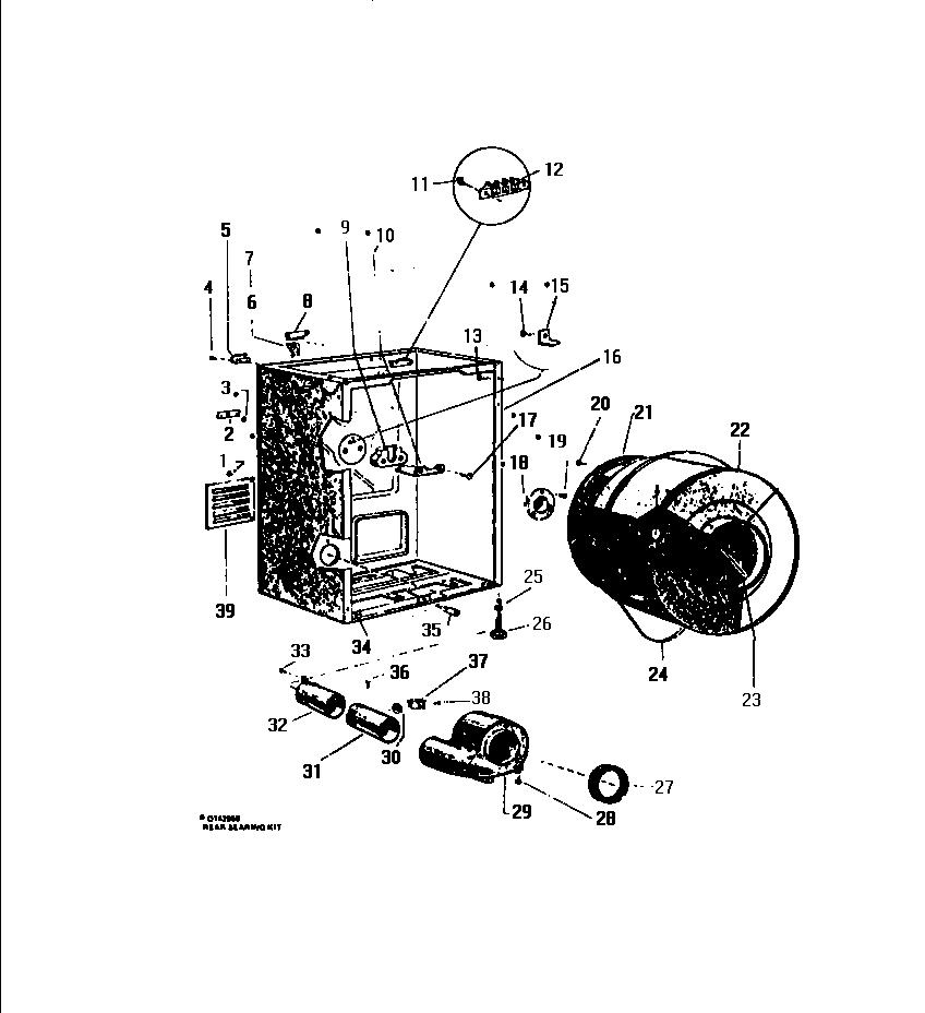 White-Westinghouse model DE650JDW1 residential dryer