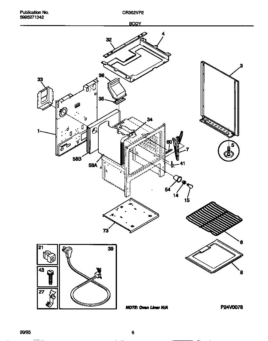 Kelvinator model CR302VP2D03 free standing, gas genuine parts