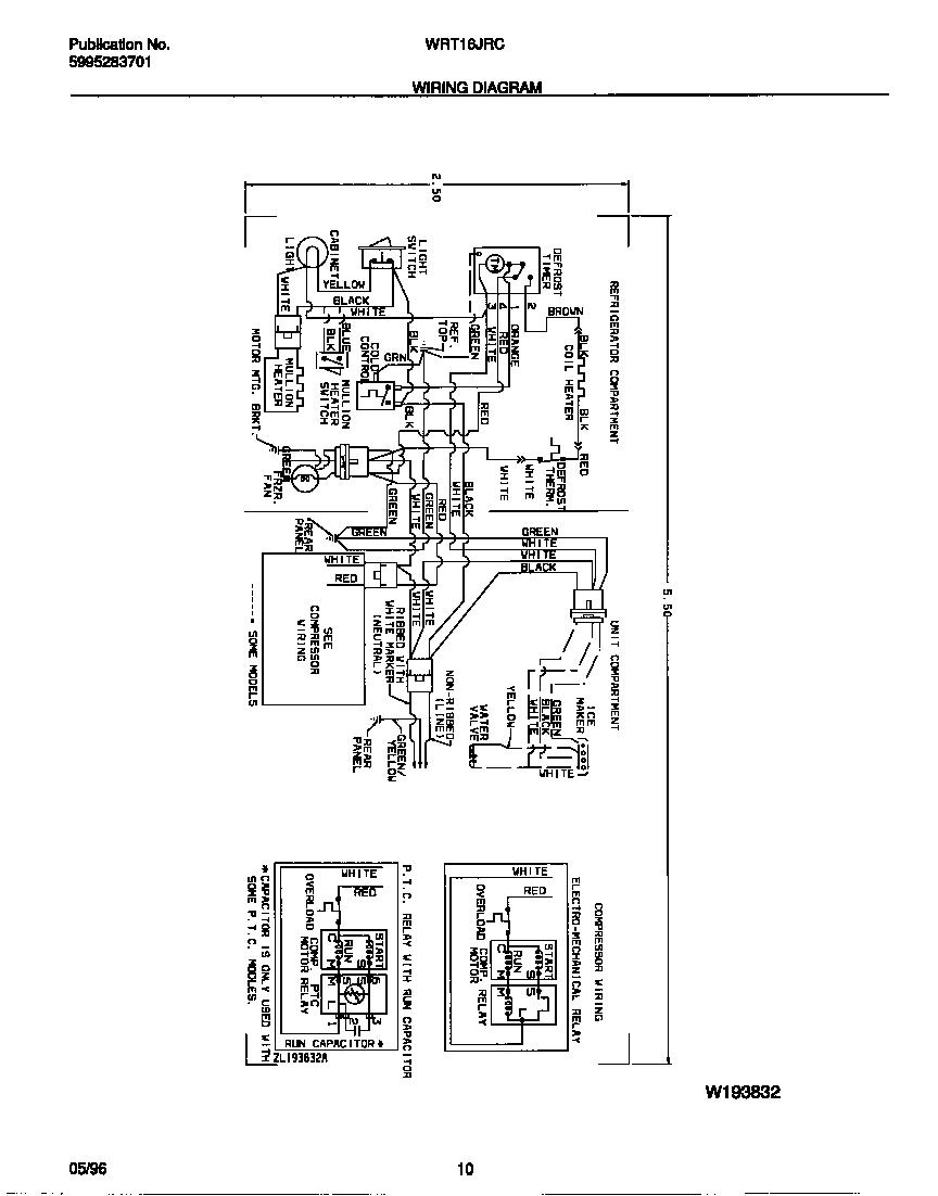 White-Westinghouse model WRT16JRCD2 top-mount refrigerator