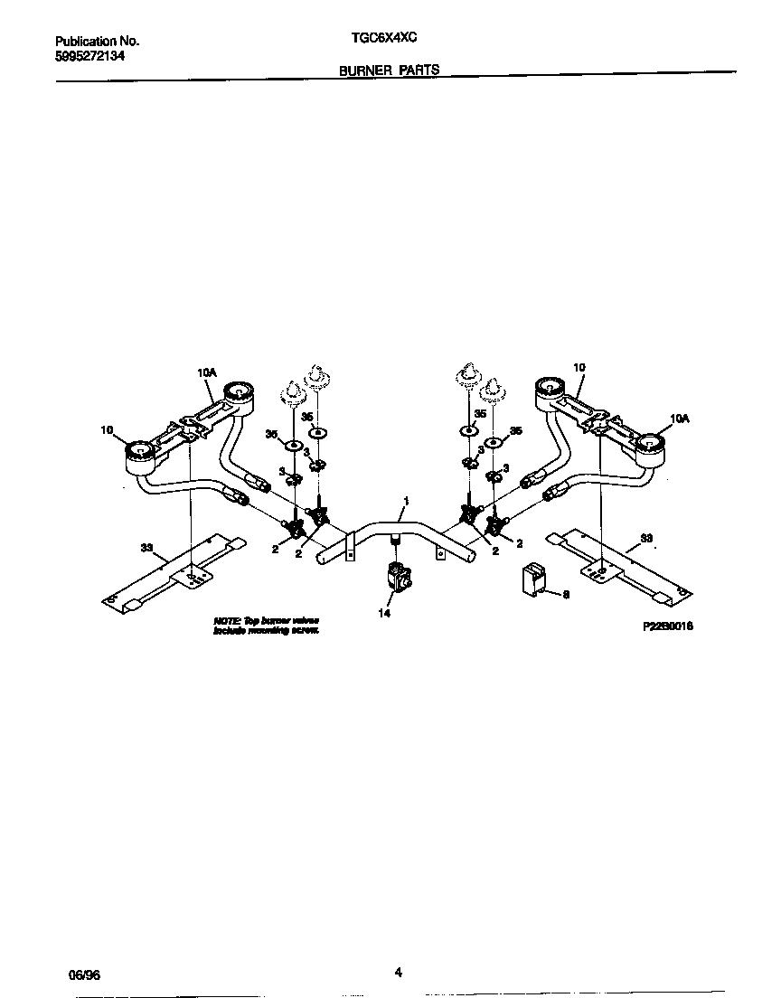 Tappan model TGC6X4XCW1 counter unit, gas genuine parts