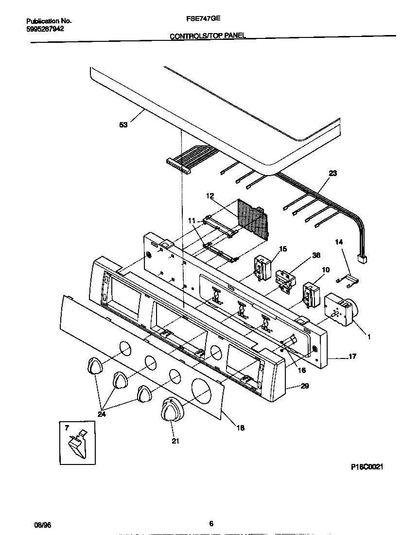 Frigidaire model FSE747GES0 residential dryer genuine parts
