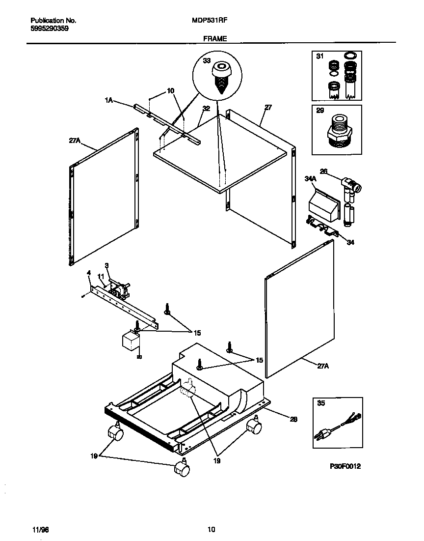 UNIVERSAL/MULTIFLEX (FRIGIDAIRE) PORTABLE DISHWASHER