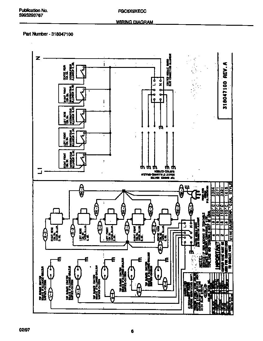 Frigidaire model FGC6X9XECC counter unit, gas genuine parts