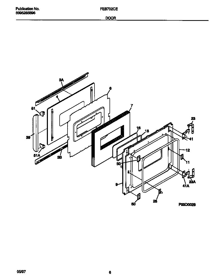 Frigidaire model FEB702CESA built-in oven, electric