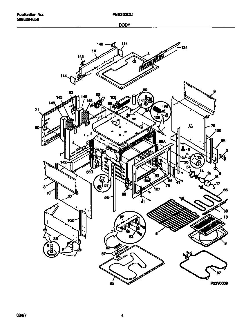 Frigidaire model FES353CCDC slide-in range, electric