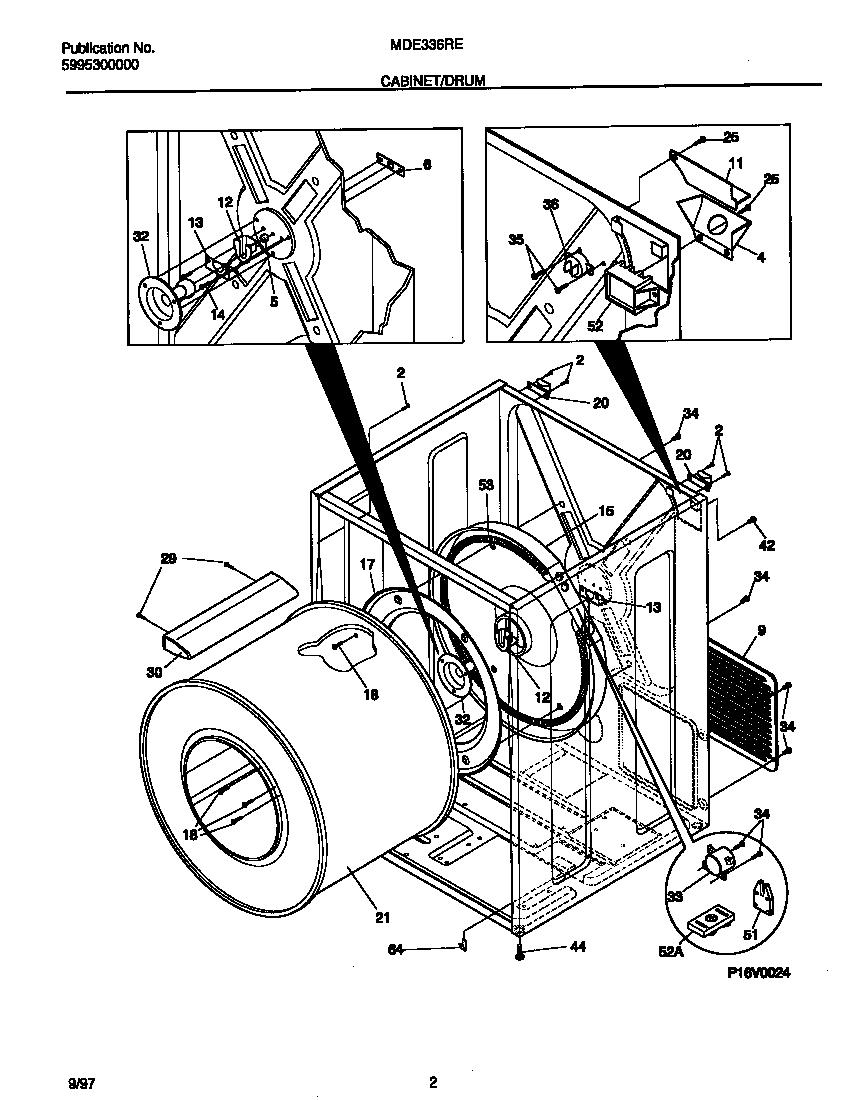 Universal-Multiflex-Frigidaire model MDE336REW1