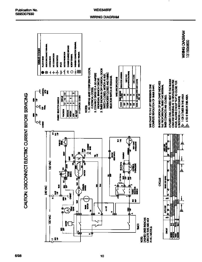 White-Westinghouse model WDE546RFS0 residential dryer