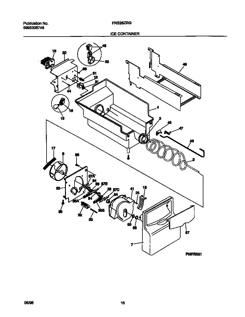 Frigidaire model FRS26ZRGB0 side-by-side refrigerator