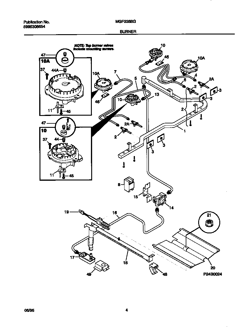 Universal-Multiflex-Frigidaire model MGF336BGWA free