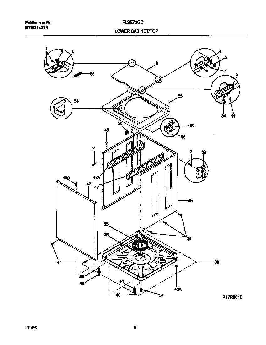 Frigidaire model FLSE72GCSA laundry centers/combos genuine