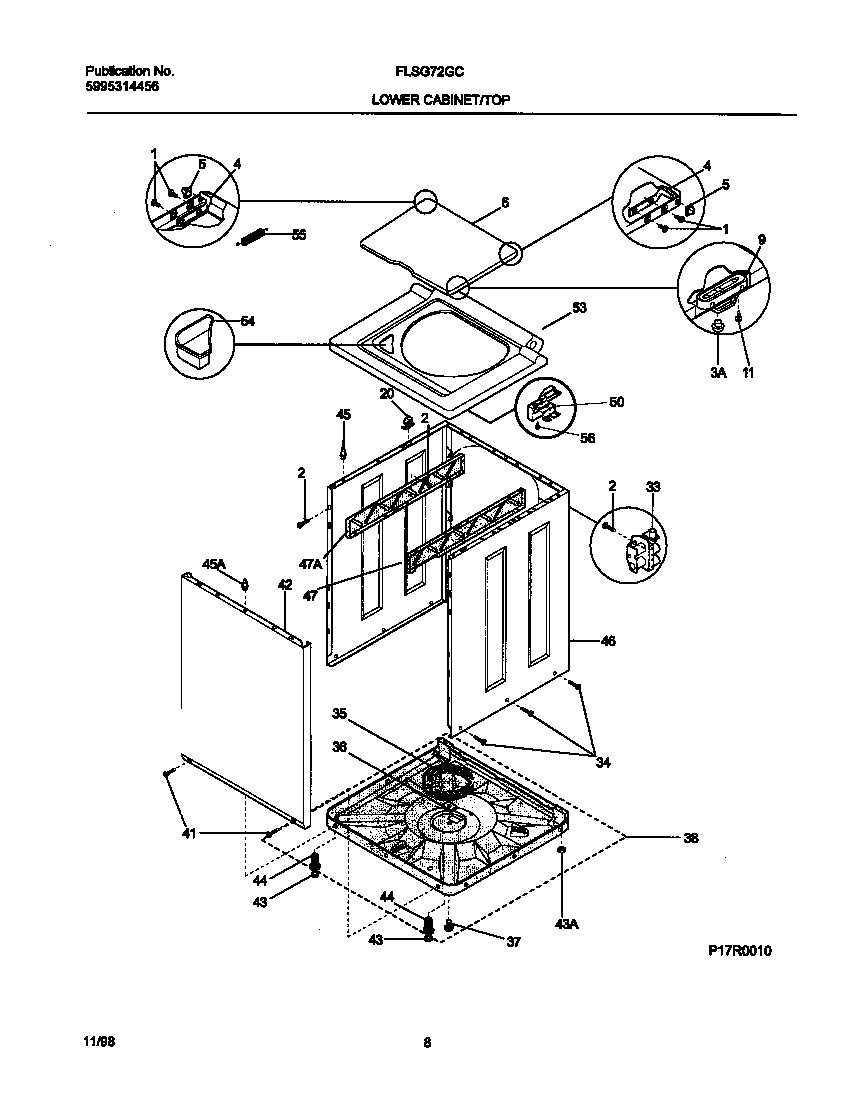 Frigidaire model FLSG72GCS9 laundry centers/combos genuine
