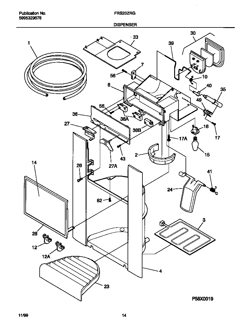 Frigidaire model FRS20ZRGB6 side-by-side refrigerator