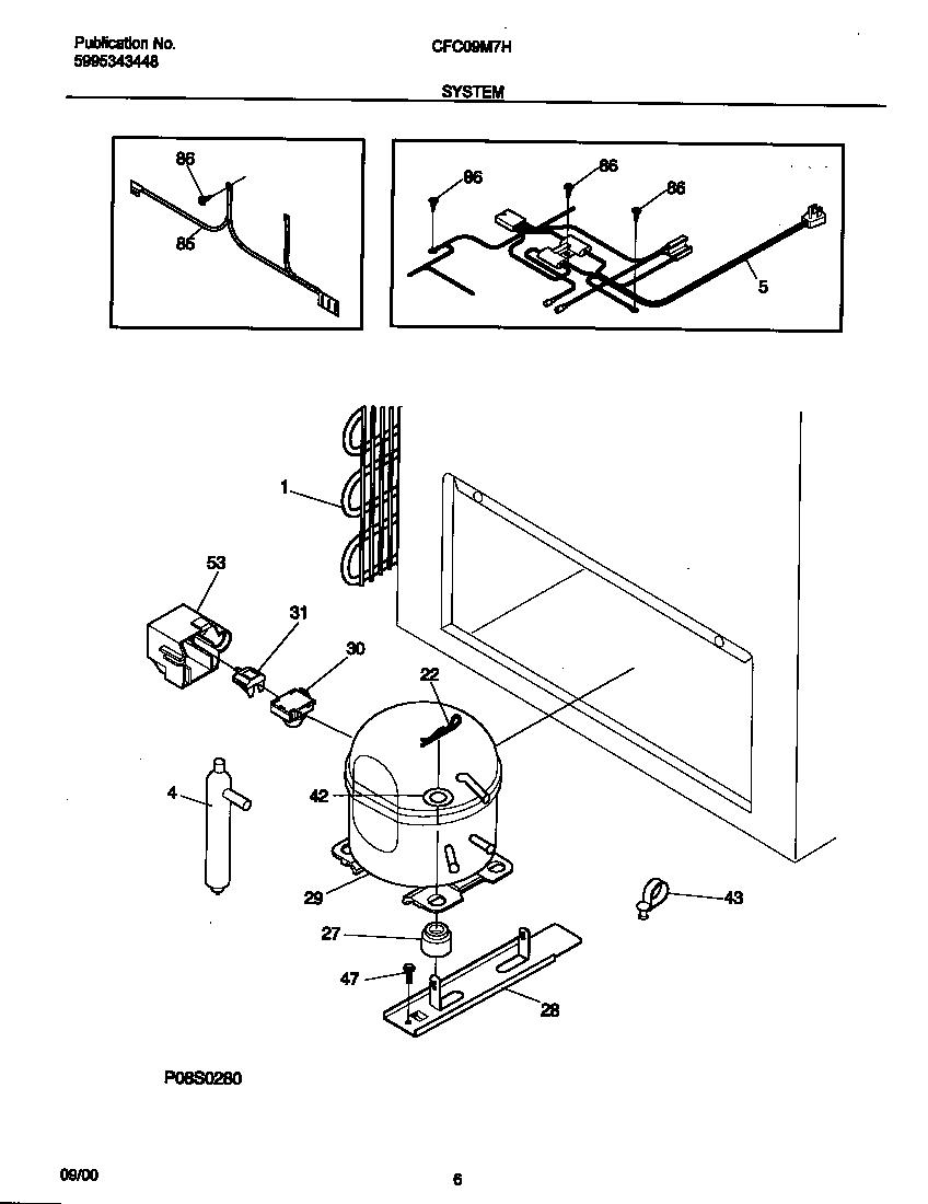 Universal-Multiflex-Frigidaire model CFC09M7HW0 chest