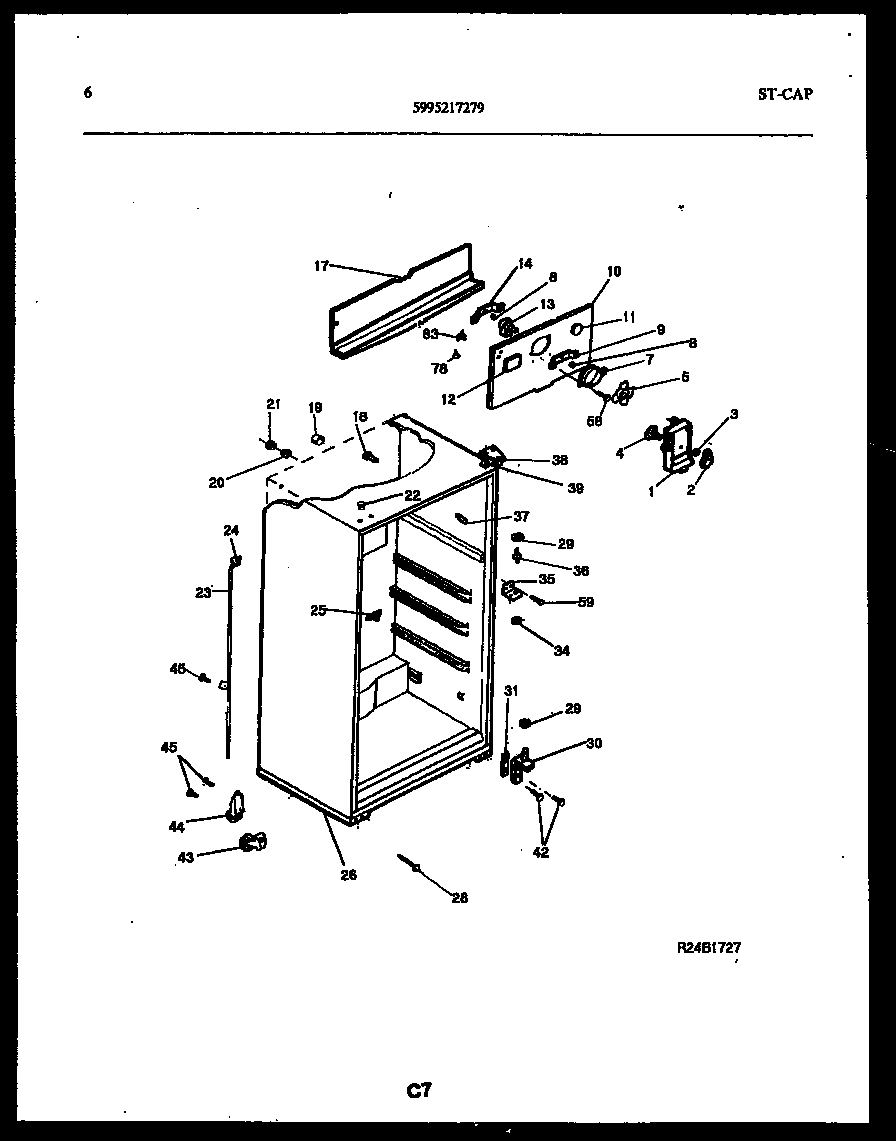 Kelvinator model GTL160BK1 top-mount refrigerator genuine