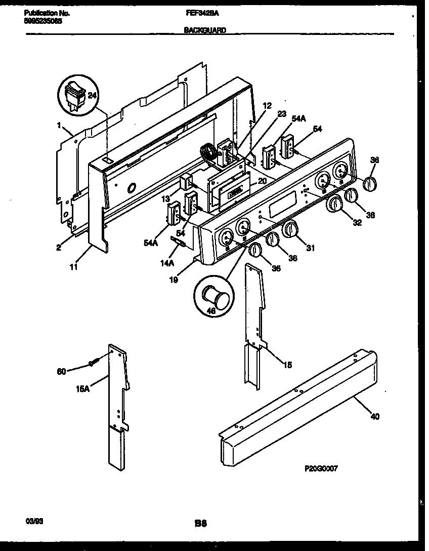 Frigidaire model FEF342BAWA free standing, electric