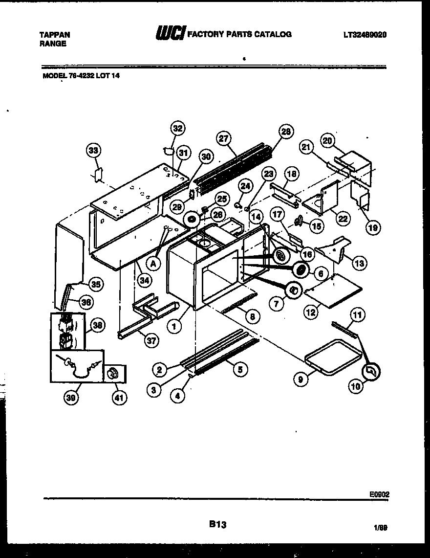 Tappan model 76-4232-00-14 range (gas) genuine parts
