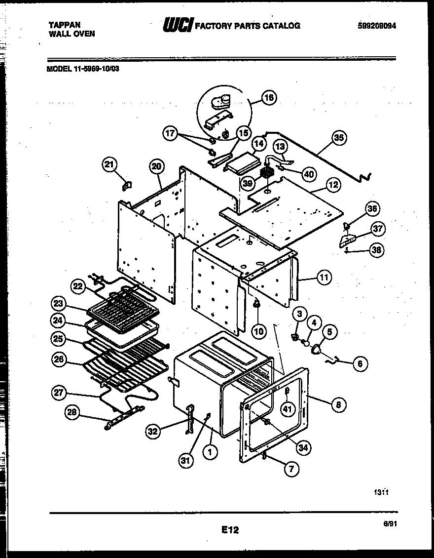 Tappan model 11-5969-00-03 built-in oven, electric genuine