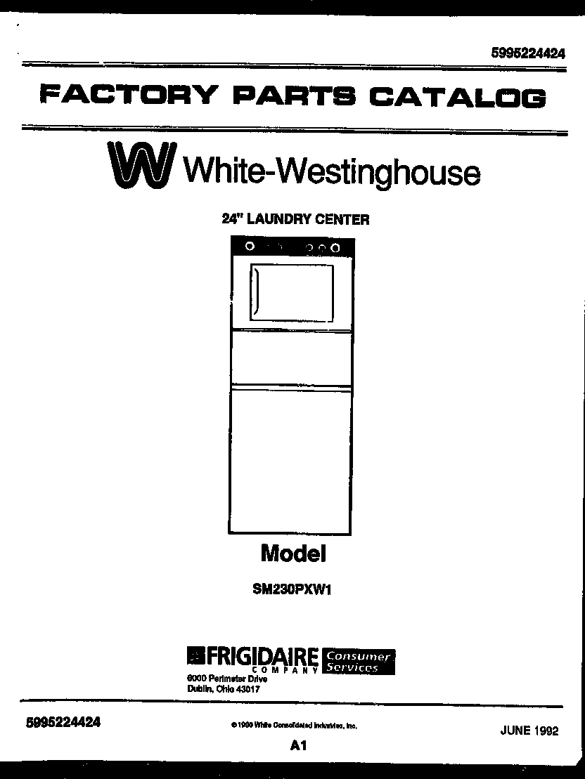 White-Westinghouse model SM230PXW1 laundry centers/combos