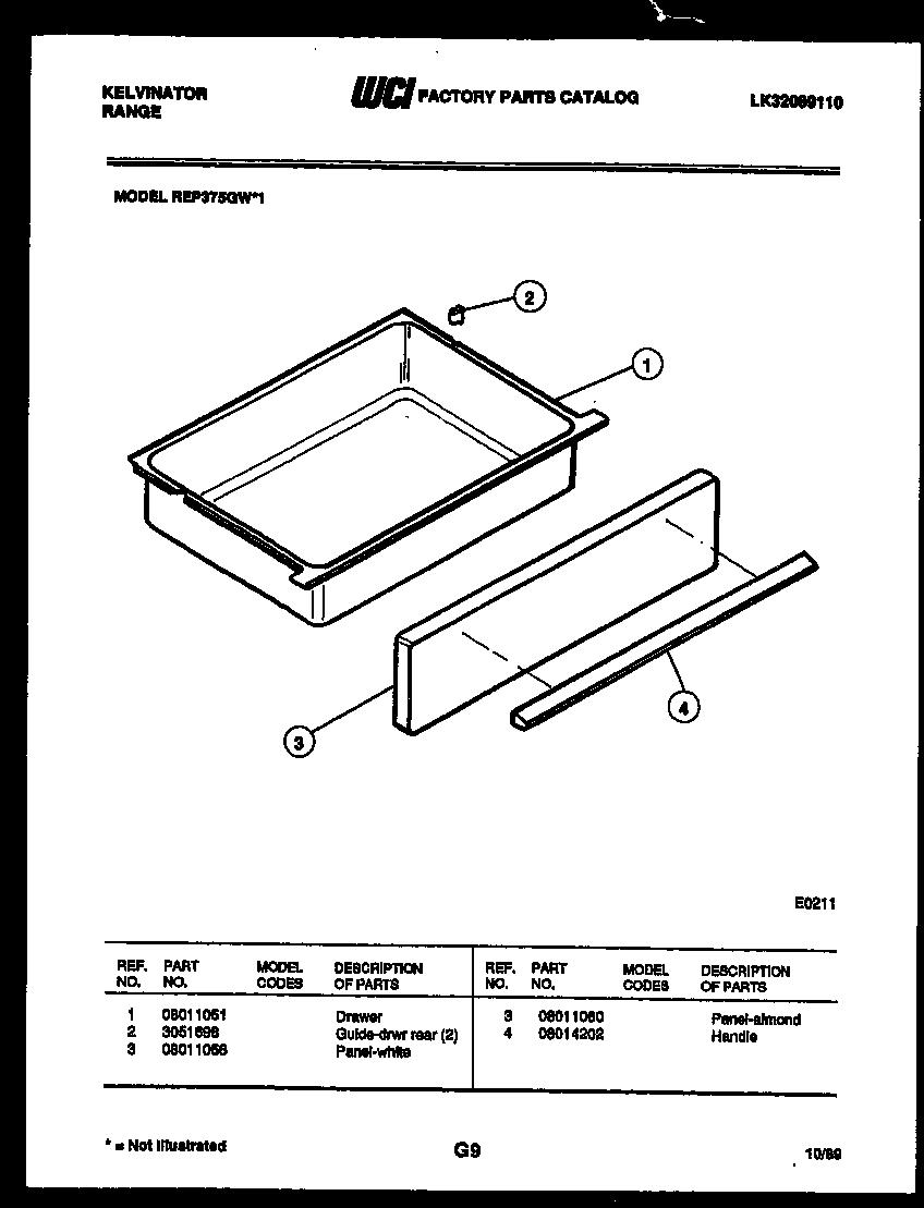 Kelvinator model REP375GW1 slide-in range, electric