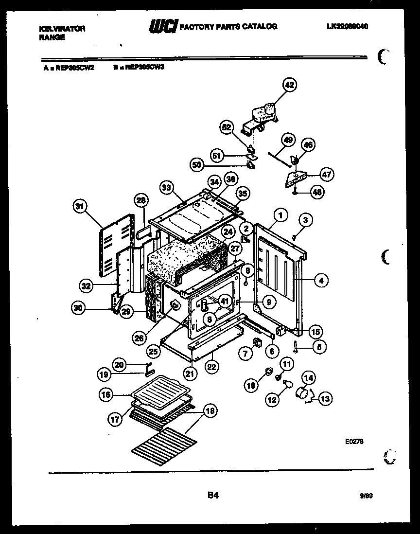 Kelvinator model REP305CF2 free standing, electric genuine