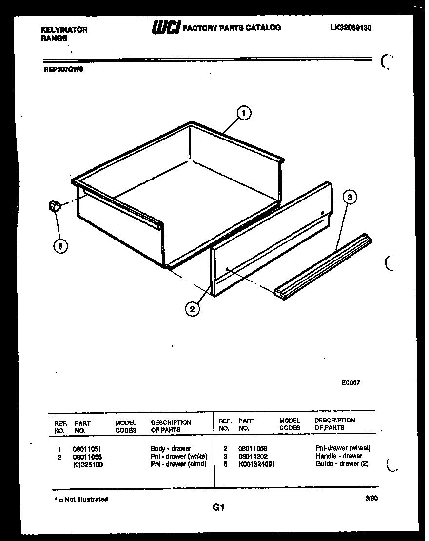 Kelvinator model REP307GT0 slide-in range, electric
