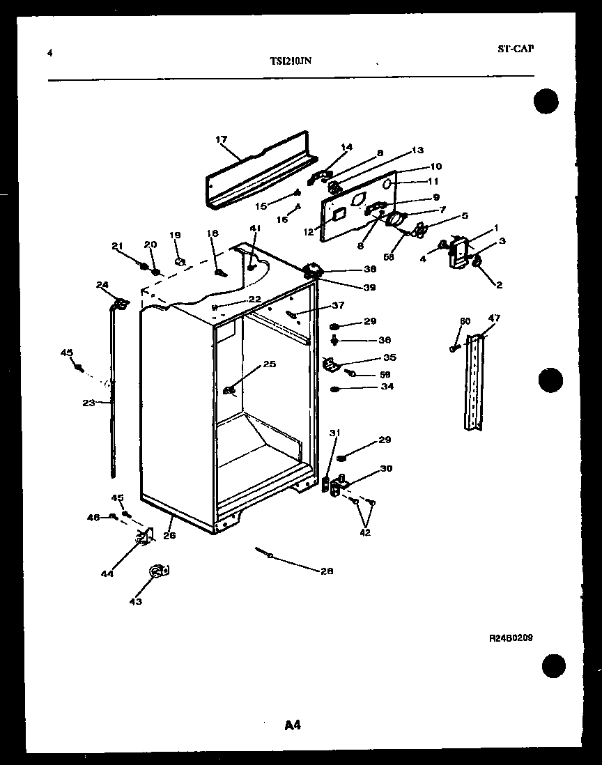 Kelvinator model TSI210JN0D top-mount refrigerator genuine