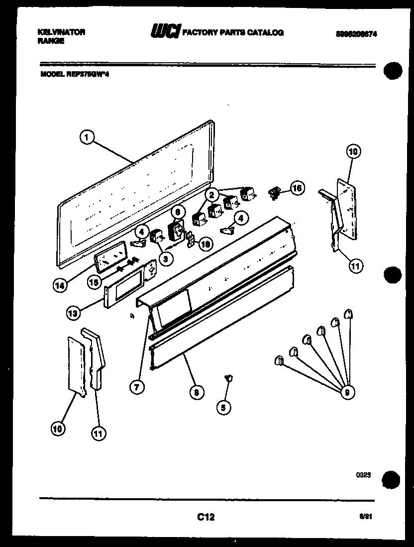 Kelvinator model REP375GW4 slide-in range, electric