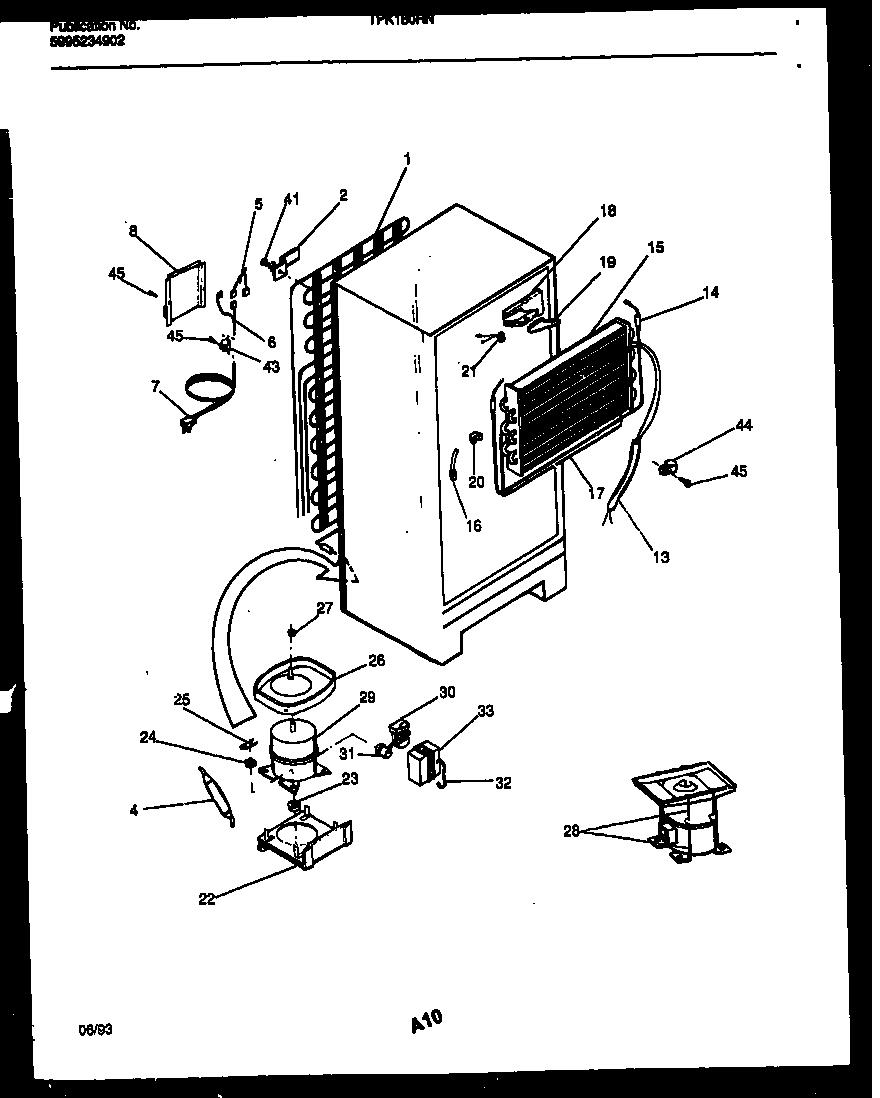 Kelvinator model TPK180HN2W top-mount refrigerator genuine