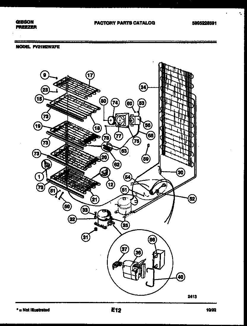 Gibson model FV21M2WXFE upright freezer genuine parts