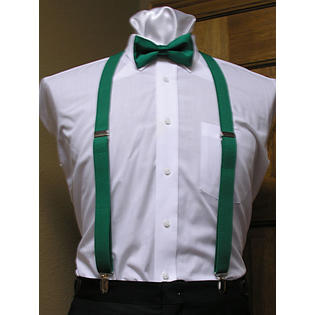 Tuxedo Park Emerald Green Matching Bow Tie And Suspender