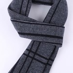 Kettymore Men Decent Striped Thick Warm Woolen Muffler